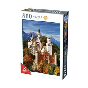 """Deico (76090) - """"Neuschwanstein"""" - 500 pieces puzzle"""