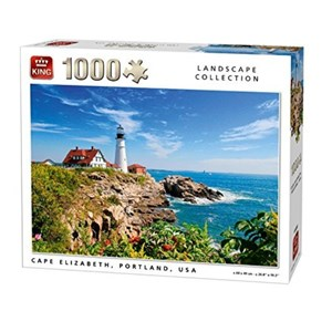 "King International (05709) - ""Cape Elizabeth, Portland"" - 1000 pieces puzzle"