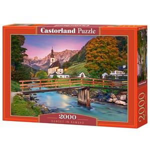 """Castorland (C-200801) - """"Sunset in Ramsau"""" - 2000 pieces puzzle"""
