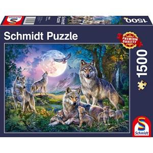 """Schmidt Spiele (58954) - """"Wolves"""" - 1500 pieces puzzle"""