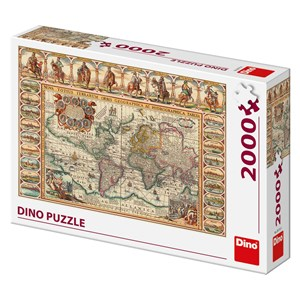 "Dino (56115) - ""Antique World Map"" - 2000 pieces puzzle"