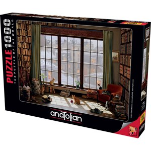 "Anatolian (1065) - ""Window Cats"" - 1000 pieces puzzle"