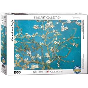 """Eurographics (6000-0153) - Vincent van Gogh: """"Almond Branches in Bloom"""" - 1000 pieces puzzle"""