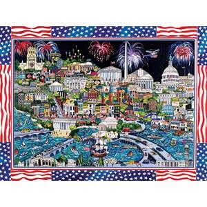 "SunsOut (74058) - Sharie Hatchett Bohlmann: ""Fireworks over Washington DC"" - 1000 pieces puzzle"