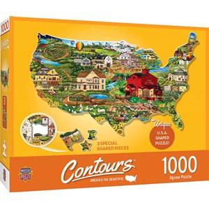 "MasterPieces (71959) - ""United States"" - 1000 pieces puzzle"