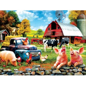 "SunsOut (42063) - Sharon Steele: ""Farm Days"" - 1000 pieces puzzle"