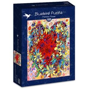 "Bluebird Puzzle (70431) - Sally Rich: ""Passion Flower"" - 1500 pieces puzzle"