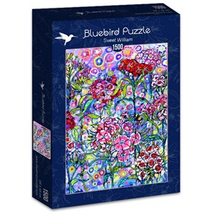 """Bluebird Puzzle (70432) - Sally Rich: """"Sweet William"""" - 1500 pieces puzzle"""