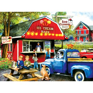 """SunsOut (28858) - Tom Wood: """"The Ice Cream Barn"""" - 1000 pieces puzzle"""
