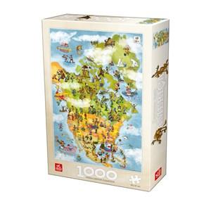 "Deico (76779) - ""USA"" - 1000 pieces puzzle"