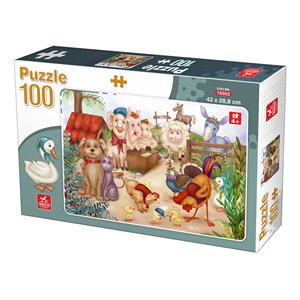 "Deico (76502) - ""Farm Animals"" - 100 pieces puzzle"