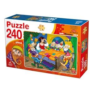 "Deico (76595) - ""Snow White and the 7 Dwarfs"" - 240 pieces puzzle"
