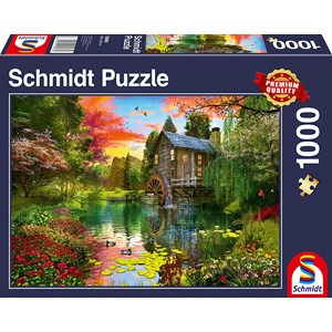 "Schmidt Spiele (58968) - ""The Water Mill"" - 1000 pieces puzzle"