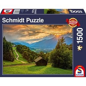 "Schmidt Spiele (58970) - ""Sunset on Wamberg"" - 1500 pieces puzzle"