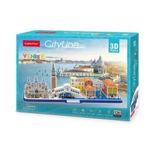 """Cubic Fun (mc269h) - """"Cityline Venice"""" - 126 pieces puzzle"""