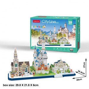 "Cubic Fun (mc267h) - ""Cityline, Bavaria"" - 178 pieces puzzle"