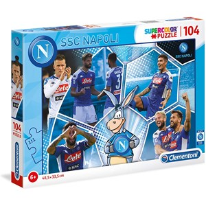 """Clementoni (27139) - """"SSC Napoli Supercolor Puzzle"""" - 104 pieces puzzle"""
