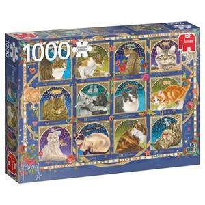 "Jumbo (18853) - Francien van Westering: ""Cat Horoscope"" - 1000 pieces puzzle"