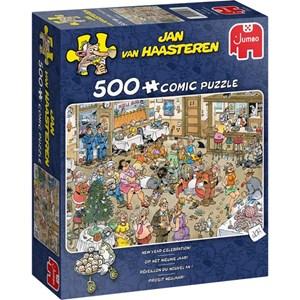 """Jumbo (20034) - Jan van Haasteren: """"New Year Celebtration!"""" - 500 pieces puzzle"""