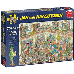 "Jumbo (20030) - Jan van Haasteren: ""The Library"" - 2000 pieces puzzle"