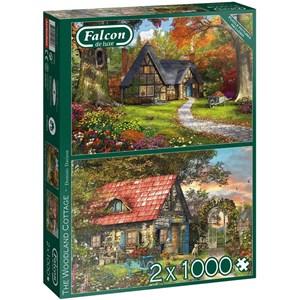 """Falcon (11294) - Dominic Davison: """"Woodland Cottages"""" - 1000 pieces puzzle"""