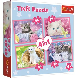 "Trefl (34330) - ""Kittens"" - 35 48 54 70 pieces puzzle"