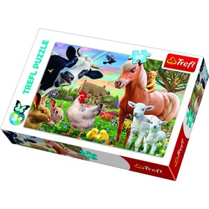 "Trefl (17320) - ""A Cheerful Farm"" - 60 pieces puzzle"