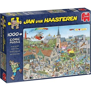 """Jumbo (20036) - Jan van Haasteren: """"Island Retreat"""" - 1000 pieces puzzle"""