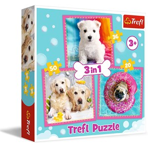 "Trefl (34845) - ""Dogs"" - 20 36 50 pieces puzzle"
