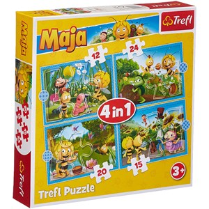 "Trefl (34356) - ""Maya the Bee Adventures"" - 12 15 20 24 pieces puzzle"