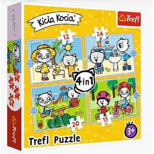 "Trefl (34372) - ""Kittykit day"" - 12 15 20 24 pieces puzzle"