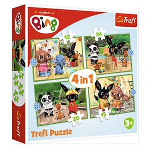 "Trefl (34357) - ""Bing's Happy Day"" - 12 15 20 24 pieces puzzle"
