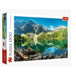 "Trefl (26167) - ""Morskie Oko Lake, Tatras, Poland"" - 1500 pieces puzzle"