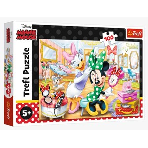 """Trefl (16387) - """"Minnie in Beauty"""" - 100 pieces puzzle"""
