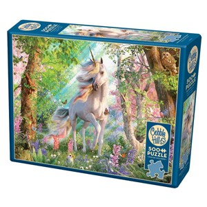 "Cobble Hill (85084) - David Penfound: ""Unicorn in the Woods"" - 500 pieces puzzle"