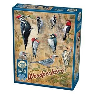 """Cobble Hill (85007) - Susan Bourdet: """"Notable Woodpeckers"""" - 500 pieces puzzle"""