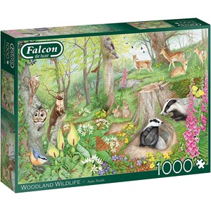 "Falcon (11322) - Anne Searle: ""Woodland Wildlife"" - 1000 pieces puzzle"