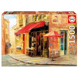 "Educa (17123) - Haixia Liu: ""Hillside Café"" - 1500 pieces puzzle"