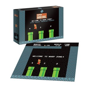 """USAopoly (PZ005-482) - """"Super Mario 1-2 Welcome to Warp Level"""" - 1000 pieces puzzle"""