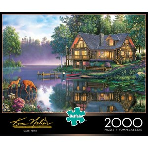 "Buffalo Games (2047) - Kim Norlien: ""Cabin Fever"" - 2000 pieces puzzle"