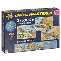 "Jumbo (19019) - Jan van Haasteren: ""3 in 1 Tour de France"" - 1000 pieces puzzle"