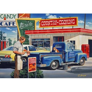 """SunsOut (37451) - Hiroaki Shioya: """"Country Cooking"""" - 550 pieces puzzle"""