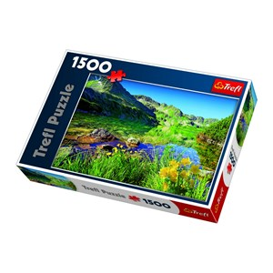 "Trefl (260892) - Jan Wlodarczyk: ""Wielki Staw Lake, the Tatras"" - 1500 pieces puzzle"