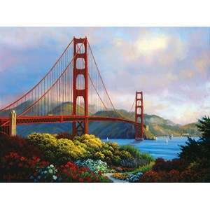 "SunsOut (48505) - Charles White: ""Morning at the Golden Gate"" - 1000 pieces puzzle"
