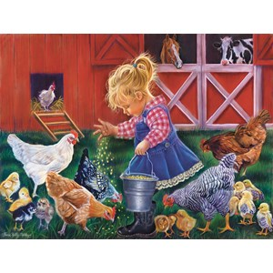 """SunsOut (35886) - Tricia Reilly-Matthews: """"Little Farm Girl"""" - 500 pieces puzzle"""