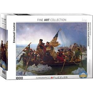 "Eurographics (6000-0829) - Emanuel Leutze: ""Washington Crossing the Delaware"" - 1000 pieces puzzle"