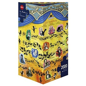 "Heye (29636) - Hartmann: ""Cat Symphony"" - 2000 pieces puzzle"