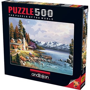 "Anatolian (3534) - James Lee: ""Mountain Cabin"" - 500 pieces puzzle"