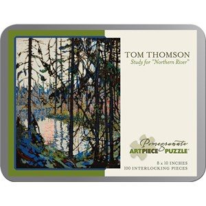 """Pomegranate (AA860) - Tom Thomson: """"Study for """"Northern River"""""""" - 100 pieces puzzle"""