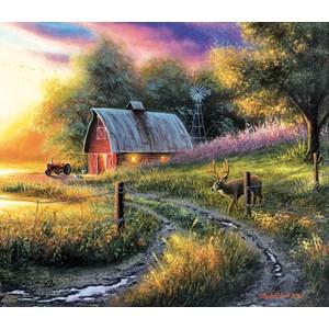"""SunsOut (55129) - Chuck Black: """"The Evening Routine"""" - 550 pieces puzzle"""